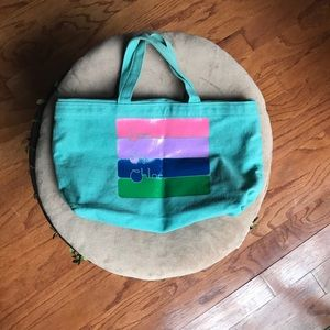 See by Chloe Turquoise Canvas Bag